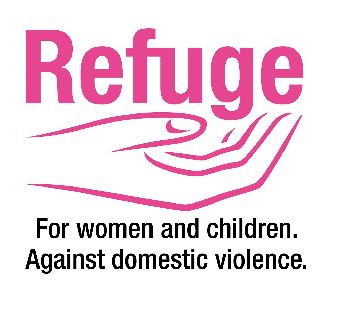 Refuge 2 colour logo transparent background_SMALLer